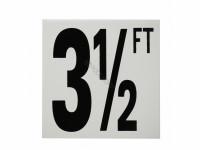 3-1/2 Ft Fp Depth Marker