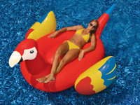 The brand new Giant Parrot pool float by Swimline adds a fun, bright and colorful inflatable toy to your collection.