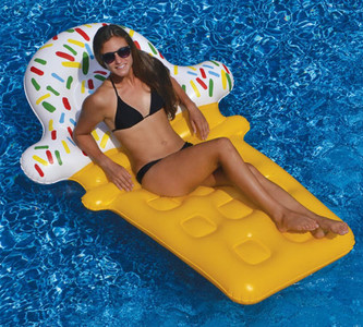 90642 Pool Float Mattress Lounge  Ice Cream Dream Float by Swimline 90642  Fun & frosty ice cream cone with sprinkles! The Ice Cream Dream Float by Swimline 90642 will make a great addition to your pool float collection!