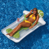 "The Margarita Mat Pool Float measures 74"" x 43"""