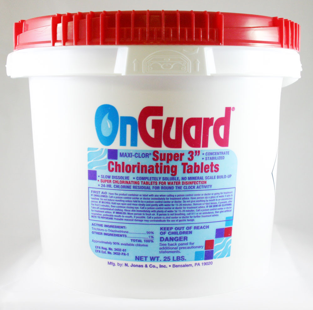 OnGuard 3 inch Super Chlorinating Tablets 25lbs