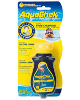 Just dip an AquaChek® Yellow / Chlorine strip in your pool or spa water for one second, and remove it immediately. You get test results in seconds! To keep your pool at its best, test at each end at least twice a week, and test your spa before each use. It's also a good idea to write down your results each time you test, so you can track changes.