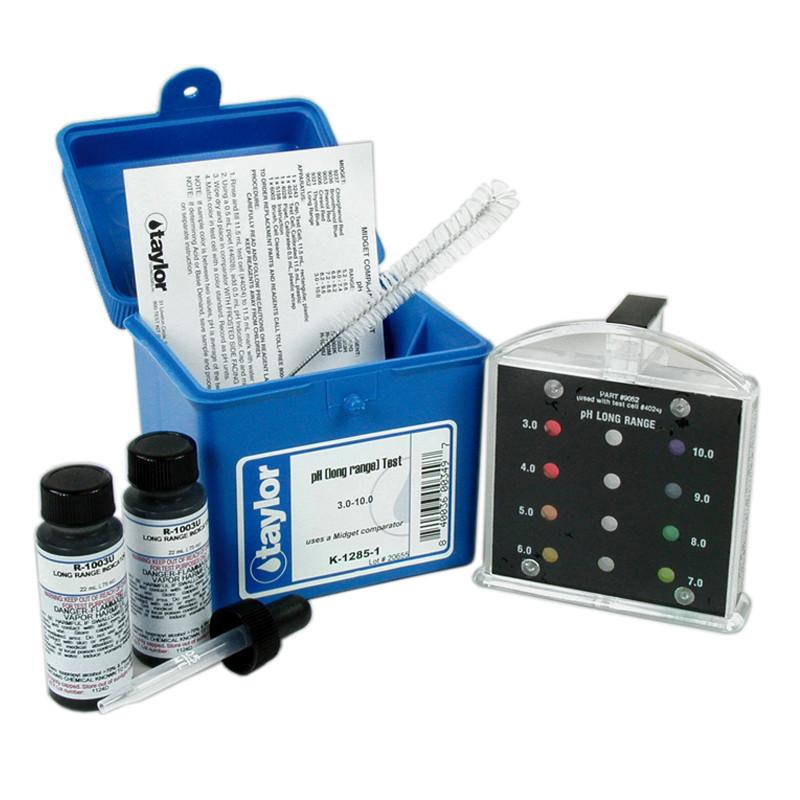 Taylor Midget Comparator pH (Long Range) 3.0-10.0 Test Kit (K-1285-1)