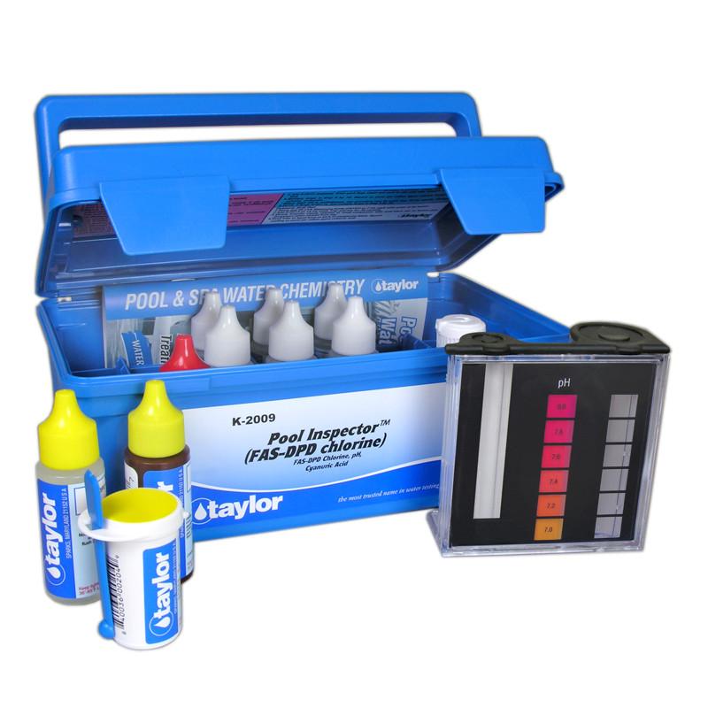 Taylor Pool Inspector kit for Chlorine, pH, CYA (FAS-DPD–high range) (K-2009)