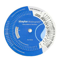 Taylor Watergram Circular Water Balance Calculator (6026)