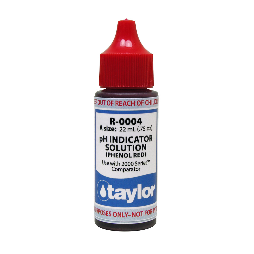 Taylor pH Indicator #4 - 3/4 Oz. Dropper Bottle (R-0004-A)