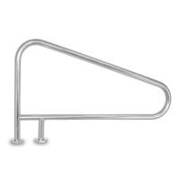 White 3-Bend Braced DM Stair Rail (D3BD049-1)