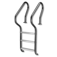 Inter-Fab; 3 STEP CAMELBACK IG LADDER WHITE; CL3049P1