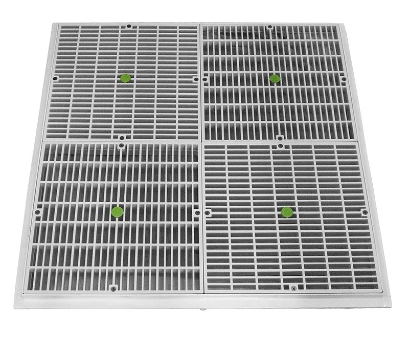 Aquastar; 24IN X 24IN FRAME WITH 4 12IN X 12IN DRAIN COVERS; AS24101