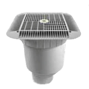Aquastar; 16IN SQUARE WITH DOUBLE DEEP SUMP BUCKET; AS1216101D