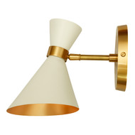 GC-003 - DAMAGED -  PEGGY WALL SMALL LAMP - White - DA-324