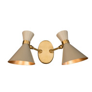 GC-020 - DAMAGED- Grey - PEGGY TWIN WALL LAMP SMALL  - DA-333
