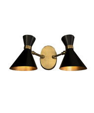 GC-020 - DAMAGED - Black - PEGGY TWIN WALL LAMP SMALL  - DA-336