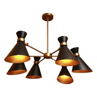 PEGGY BLACK CHANDELIER - SIX SHADES