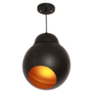 Ball black pendant -  Matt finish