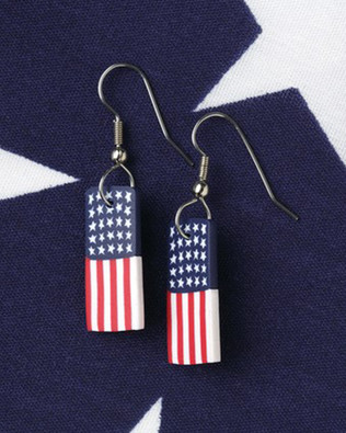 Dangle Flag Earrings