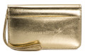 Metallic Gold Lexi Leather Wristlet Wallet