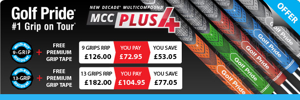 Golf Pride MCC Plus4 Grips Special Offer