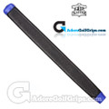 The Grip Master Kidskin Leather Sewn Midsize Paddle Putter Grip - Black / Blue Underlisting