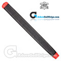 The Grip Master Kidskin Leather Sewn Midsize Paddle Putter Grip - Black / Red Underlisting