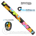 TourMARK Loudmouth Magic Bus Midsize Pistol Putter Grip - Black / Orange / Pink / Blue