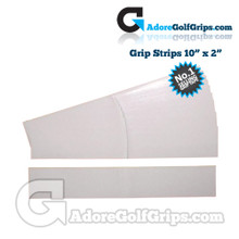 "Premium Double Sided Pre-Cut Grip Tape Strips - For Irons or Woods 10"" x 2"""