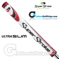 SuperStroke Ultra Slim 1.0 Legacy Series Putter Grip - White / Red