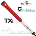 SuperStroke TX1 Tour Extreme Half Cord Grips - White / Red