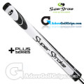 SuperStroke Slim 3.0 XL Plus Legacy Series Counter Core Putter Grip - White / Black