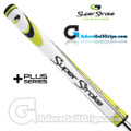 SuperStroke Slim 3.0 XL Plus Legacy Series Counter Core Putter Grip - White / Yellow