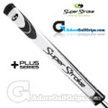 SuperStroke Flatso 2.0 XL Plus Legacy Series Counter Core Putter Grip - White / Black
