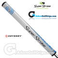 SuperStroke Odyssey  Mid Slim 2.0 Tank Putter Grip - Silver / Blue / Black