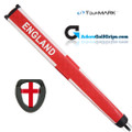 TourMARK England Jumbo Pistol Putter Grip - White / Red