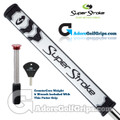 SuperStroke Flatso 2.0 CounterCore Putter Grip - White / Black / Silver