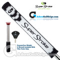 SuperStroke Flatso 3.0 CounterCore Putter Grip - White / Black / Silver