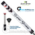 SuperStroke Pistol GT Tour CounterCore Putter Grip - White / Black / Silver