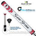 SuperStroke Flatso 1.0 CounterCore Putter Grip - White / Red / Silver