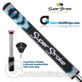 SuperStroke Flatso 1.0 CounterCore Putter Grip - Midnight Black / Blue / Silver