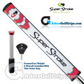 SuperStroke Flatso 2.0 CounterCore Putter Grip - White / Red / Silver