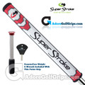 SuperStroke Mid Slim 2.0 CounterCore Putter Grip - White / Red / Silver
