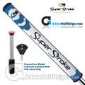 SuperStroke Mid Slim 2.0 CounterCore Putter Grip - White / Blue / Silver