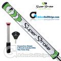 SuperStroke Mid Slim 2.0 CounterCore Putter Grip - White / Lime Green / Silver