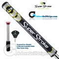 SuperStroke Mid Slim 2.0 CounterCore Putter Grip - Midnight Black / Yellow / Silver