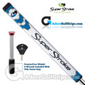 SuperStroke Pistol GT Tour CounterCore Putter Grip - White / Blue / Silver