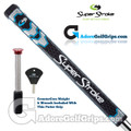 SuperStroke Pistol GT Tour CounterCore Putter Grip - Midnight Black / Blue / Silver