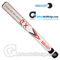 Arm-Lock Golf 14 Inch RX Series Counterbalance Jumbo Putter Grip - White / Red / Black