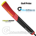 Golf Pride Tour SNSR Contour 140CC Jumbo Pistol Putter Grip - Black / Red / Yellow