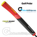 Golf Pride Tour SNSR Contour 104CC Midsize Pistol Putter Grip - Black / Red / Yellow