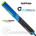 Golf Pride Tour SNSR Straight 140CC Jumbo Non-Taper Putter Grip - Black / Blue / Yellow