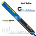Golf Pride Tour SNSR Straight 104CC Midsize Non-Taper Putter Grip - Black / Blue / Yellow